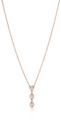 Tiffany & Co. Elsa Peretti Diamonds by the Yard drop pendant in 18k rose gold