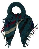 Etoile Isabel Marant Silk Striped Fringe Scarf