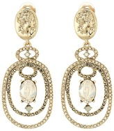 Oscar de la Renta Bold Double Loop Cameo C Earrings