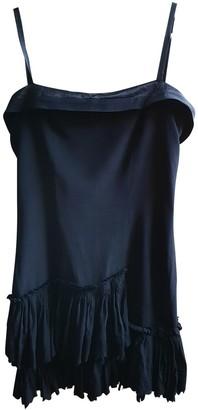 Les Hommes Black Silk Dress for Women