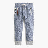 J.Crew Kids' heathered glow-in-the-dark Max the Monster sweatpant in slim fit