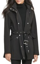 Lauren Ralph Lauren Women's Belted Hooded Soft Shell Jacket