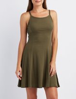 Charlotte Russe Bib Neck Swing Dress