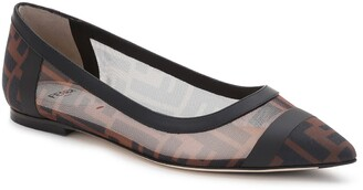Fendi Colibri Logo Pointed Toe Flat