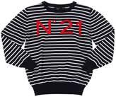N°21 Stripes Cotton Knit Sweater
