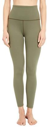 Beyond Yoga Supplex High Waisted Midi Leggings (Aviator Green) Women's Casual Pants