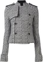 Haider Ackermann pied de poule pattern jacket - women - Silk/Cotton/Nylon/Virgin Wool - 38