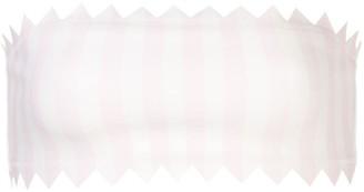Onia Wilma macro-stripe bikini top