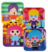 French Bull Rock Star Kids' Plates (Set of 4)
