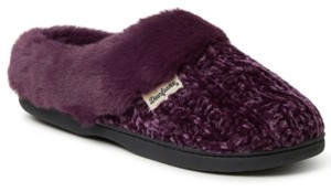 Dearfoams Women's Cable Knit Chenille Clog Slipper, Available in Wides, Online Only