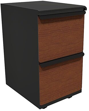 Weyant 2-Drawer Mobile Vertical filing cabinet Symple Stuff Drawer Finish: Collectors Cherry Laminate, Base Finish: Pumice