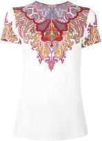 Etro paisley collar print T-shirt - women - Spandex/Elastane/Viscose - 44