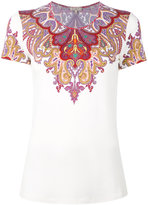 Etro - paisley collar print T-shirt