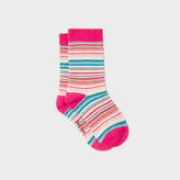 Paul Smith Girls' 2-6 Years Multi-Colour Stripe 'Nerissa' Socks