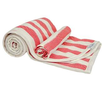 House Of Jude Hooded Turkish Towel and Wash Cloth Bundle Watermelon