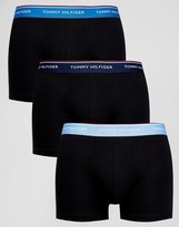 Tommy Hilfiger Trunks In 3 Pack Black