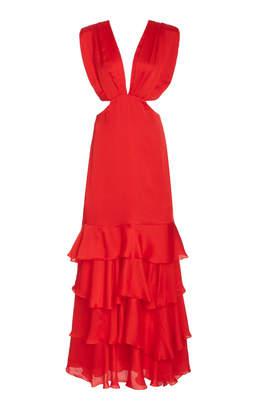 Johanna Ortiz Lava Maiden Voyage Cutout Silk Dress