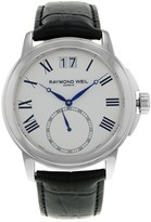 Raymond Weil 9578-STC-00300 Stainless Steel / Leather with White Dial 42mm Mens Watch