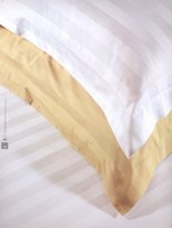 Natural Comfort Luxury Wrinkle Free Egyptian Cotton Blend 300tc Sheet Deep Pocket Sheet Set-sateen Stripe; King, White
