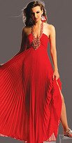 Jeweled Pleated Red Evening Gowns by Jovani