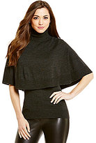 Antonio Melani Lorelai Turtleneck Capelet Sweater
