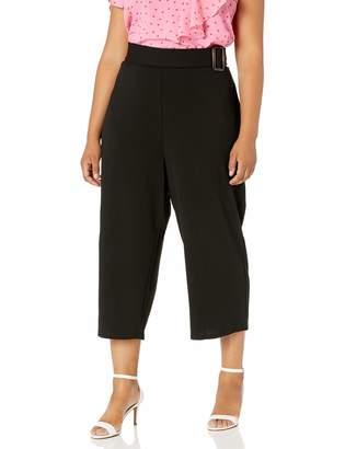City Chic Women's Apparel Women's Plus-Size Wide Leg cullote Pants