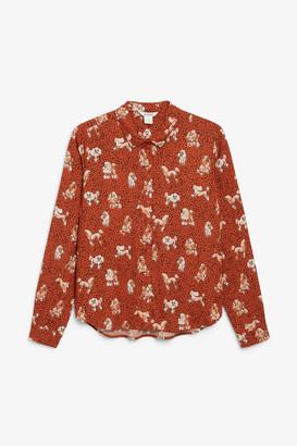 Monki Classic button-up blouse