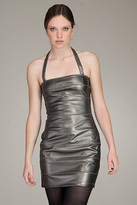 Bianca Metallic Silver Dress