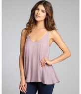 Fluxus lavender cotton 'Alycia' flared tank top