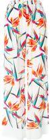 Fendi Bird of Paradise flower print trousers - women - Silk - 40