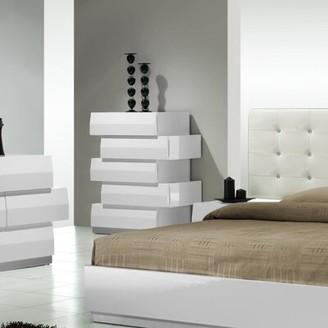Mercury Row Daniella 5 Drawer Chest Color: White
