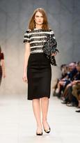 Burberry Cashmere Blend Pencil Skirt