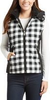 White & Black Buffalo Hooded Vest