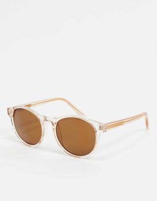 A.Kjaerbede round sunglasses in beige