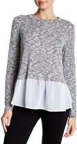 Bobeau Hacci Woven Hem Sweater