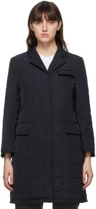 Thom Browne Online Exclusive Navy Down RWB Stripe Chesterfield Coat