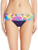 Anne Cole Women's This Bud's For You Foldover Mid-Rise Bottom
