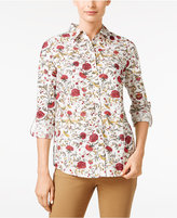 Charter Club Floral-Print Shirt, Only at Macy's