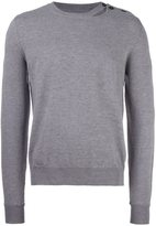 Maison Margiela slit detail crew neck jumper - men - Wool - S