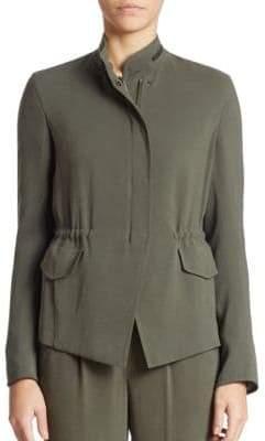 Akris Punto Solid Zip Up Jacket