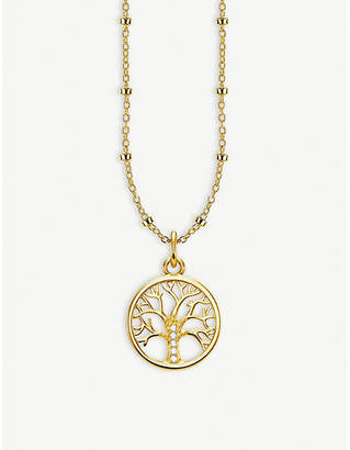 Thomas Sabo Tree of Love 18ct yellow gold-plated necklace