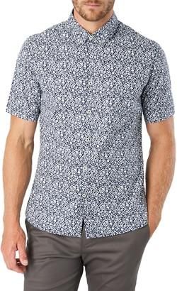 7 Diamonds Photo Ops Slim Fit Floral Short Sleeve Button-Down Shirt