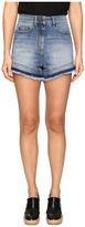 RED Valentino Denim Stone Wash Shorts Women's Shorts