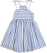 Milly Minis Striped Cotton Chambray Dress