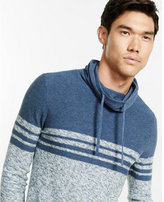 Express marled color blocked funnel neck sweater