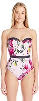 Ted Baker Women's Camarta Citrus Bloom One Piece Swimsuit