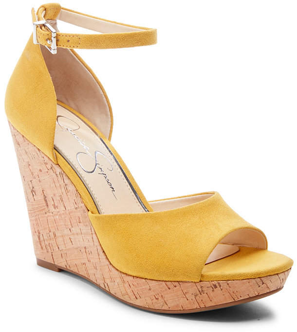5073ae55a5 Yellow Cork Wedge Sandals - ShopStyle