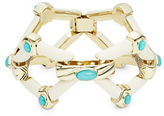 House Of Harlow Stone Accented Openwork Statement Bracelet
