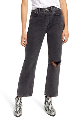 Topshop Chicago Ripped Knee High Waist Dad Jeans