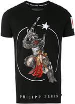Philipp Plein skull samurai print T-shirt